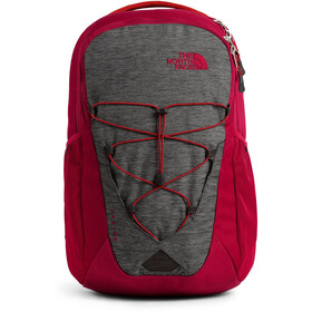 The North Face Jester Rugzak, tnf dark grey heather/cardinal red